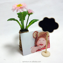 Cloud shaped mini wood standing chalkboard for wedding seat brand