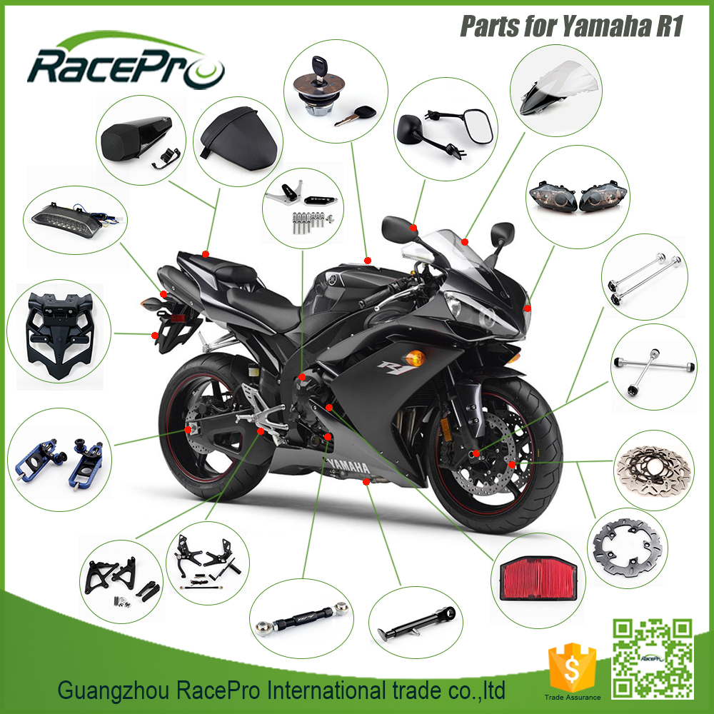 CNC Billet Aluminum Super Bike Motorbike Motorcycle Body Parts For Yamaha R1