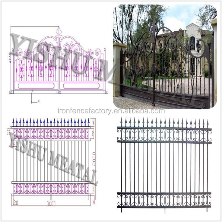 2016 Latest Cheap Price Simple House Main Gate Design / Black ...