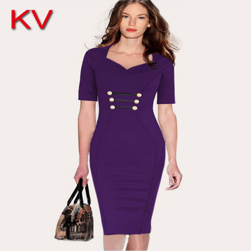Year 2015 Autumn Dress Summer Style Lady Sheath Evening Party Sexy Women Cloths Work Solid Knee Length Hot Selling OP0298