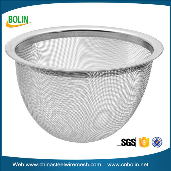 stainless steel 65mm diameter metal mesh net tea infuser basket for teapot filter (free sample)
