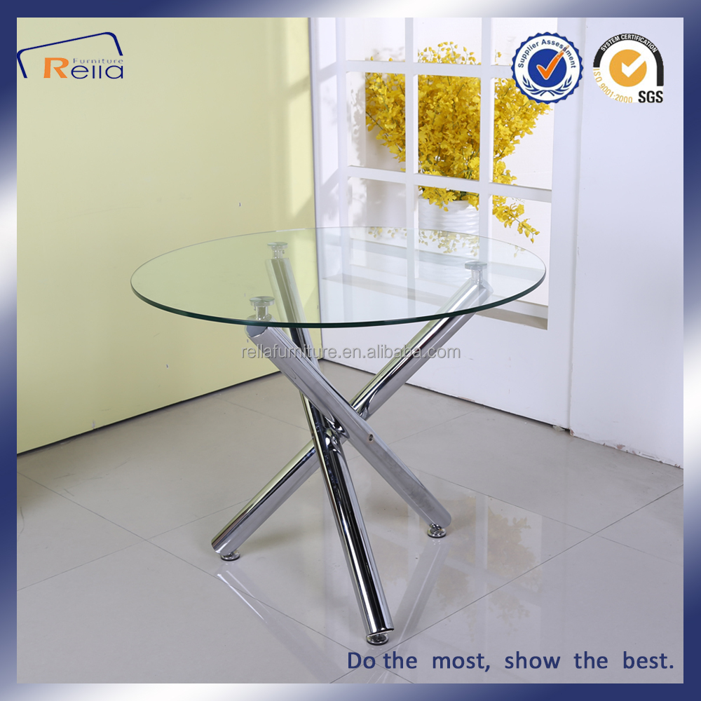 Round Glass Dining Table With 3 Metal Legs   Buy Round Glass Dining Table,Dining  Table With 3 Legs,Dining Table With Metal Legs Product On Alibaba.com