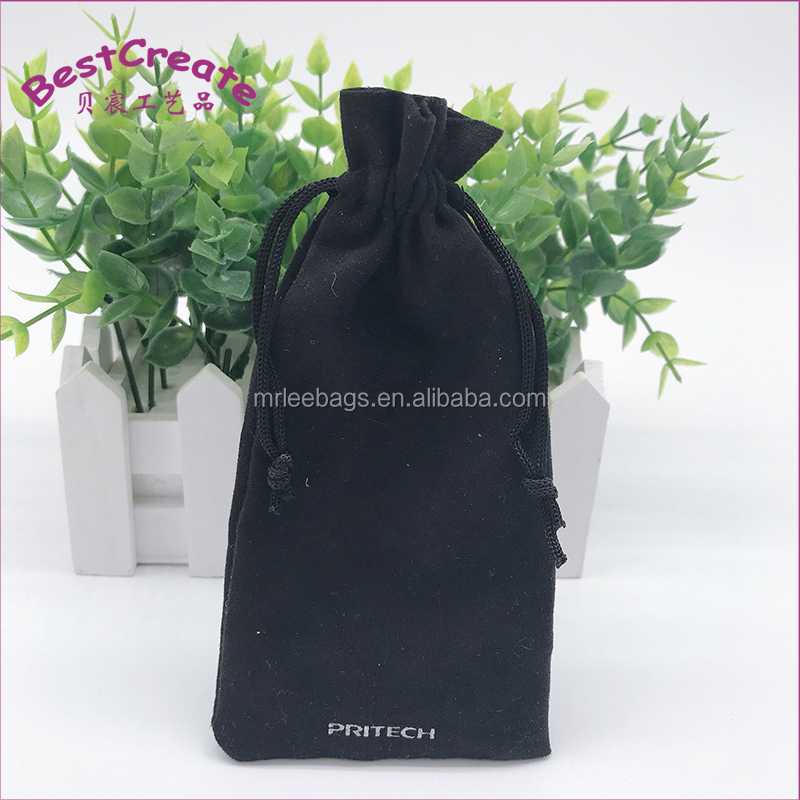 Chinese factory suede velvet drawstring plaything bags for PSP game machine