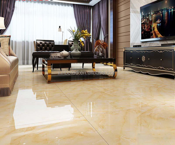 Home Depot Beige Color Marble Look Full Glazed Polished Geneous Porcelain Tiles Floor In Stock
