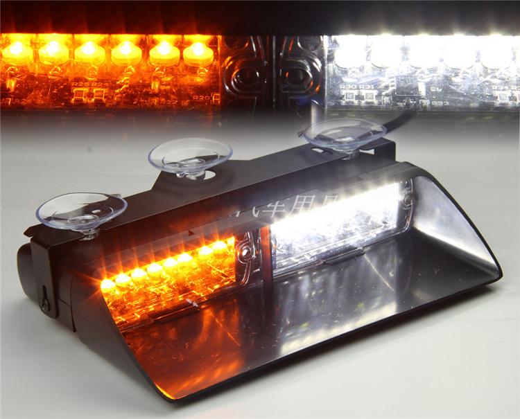 Желтый / белый 16 из светодиодов 48 Вт автомобилей грузовик даш строб предупреждения об опасности аварийное освещение полиция пожарный EMS мигающий сигнальные огни