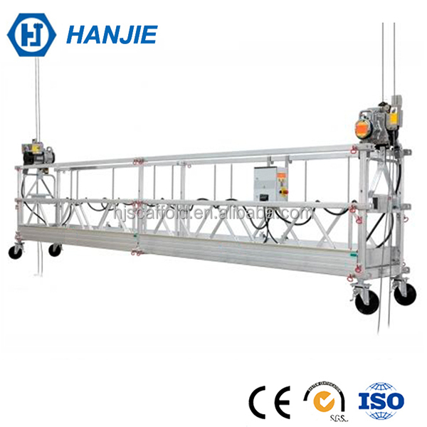 Electric lifting cradle mast climbing work platform for exterior cleaning