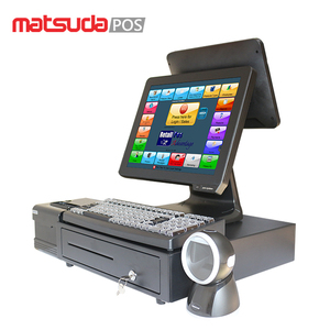Hot dual screen touch screen pos system machines for restaurants and supermarkets