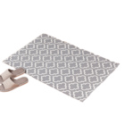 Chinese factory direct washable floor carpet mat for hotel lobby home car grey bottom white printing rug custom