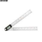 200mm 0-360 degree digital angle ruler angle finder digital inclinometer stainless steel protractor