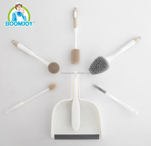 BOOMJOY 6 Sets Brushes for Home Cleaning, Remove Oil, Fur, Hair, Cleaning Glass, Window
