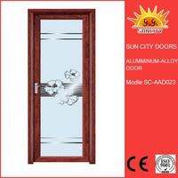 SC-AAD023 High Quality Simple Design Prehung Composite Wood Grain Transfer Aluminum Window and Clad Bathroom Door