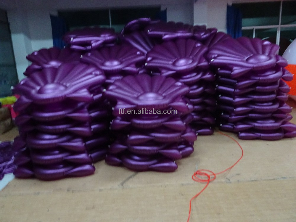 2017 Holiday Beach Giant Inflatable Seashell Float Lake inflatable shell Pool Float For Adults Wholesale