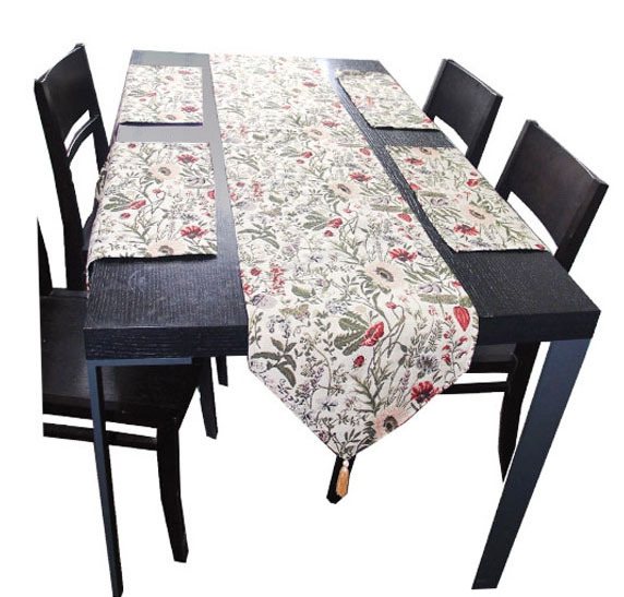 Ikea Style Home Decor Flowers Jacquard Tablecloth Table Runner Placemat Set In Price On M Alibaba