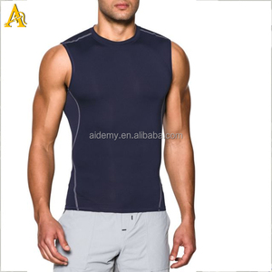 China OEM Gym Singlets Manufacturer, Wholesale Men Fitness Sports Compression Tank Top