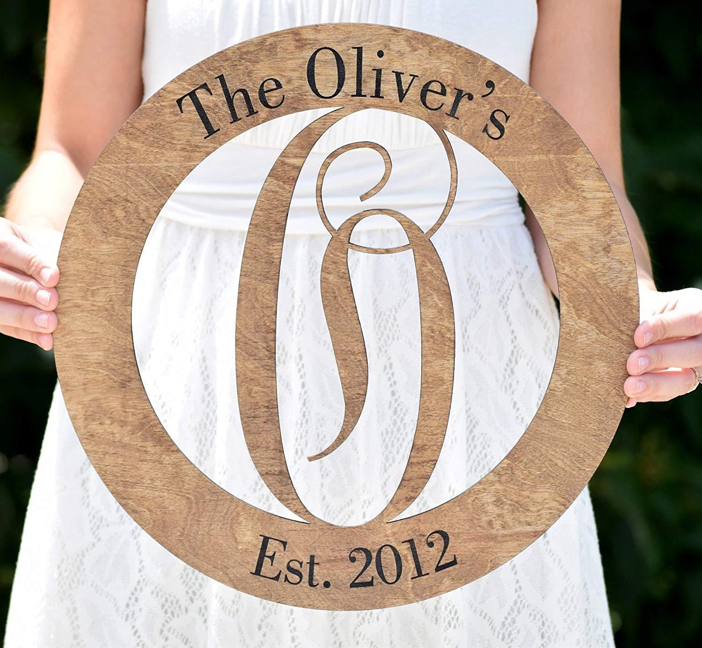 Letter Door Hanger - Front Door Hanger - Wooden Monogram - Wedding Monogram - Personalized Door Hanger - Wedding Gift - Housewarming Gift