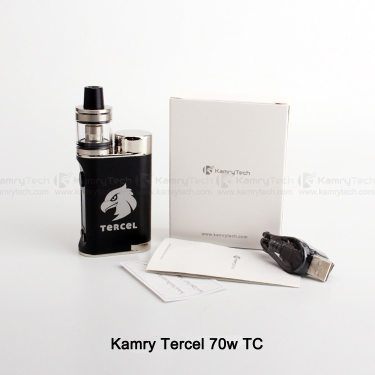 Tiny body external18650 battery VW/TC-Ni/TC-Ti/TC-SS/TCR kamry Tercel 70W electronic vapor
