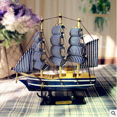 Sailing Boat Model <font><b>Home</b></font> <font><b>Decoration</b></font> 20*5*19CM
