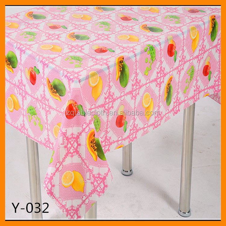 vinyl / pvc transparent printed tablecloth rolls