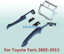2 Din Car Frame Dash Kit / Car Fascias / Mount Bracket Panel For Toyota Yaris 2005 2006 2007 2008 2009 2010 2011 2012 2013