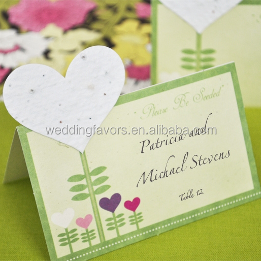 Seeded Heart Plantable Place Cards