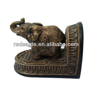 Wholesale copper resin elephant figurines
