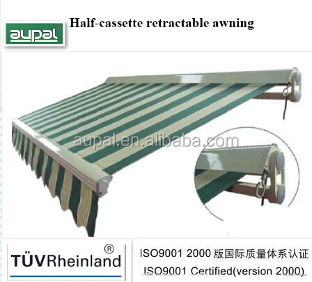 Half Cassette Awning Walmart Awnings Cheap Folding Arm Used Aluminum Support CZCH