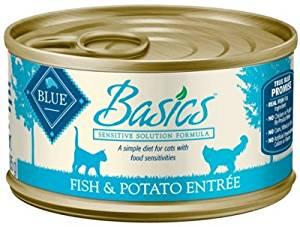"BASICS GRAIN FREE INDOOR CAT FISH/POTATO 24/3OZ ""Ctg: OTHER PET FOODS - BLUE BUFFALO CAT WET"""