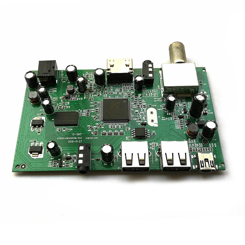 Full HD DVB-S2 Penerima Satelit Papan PCB, DVB S2 Mini Receiver HD Gx6605s Papan PCB, receiver Satelit Papan PCB
