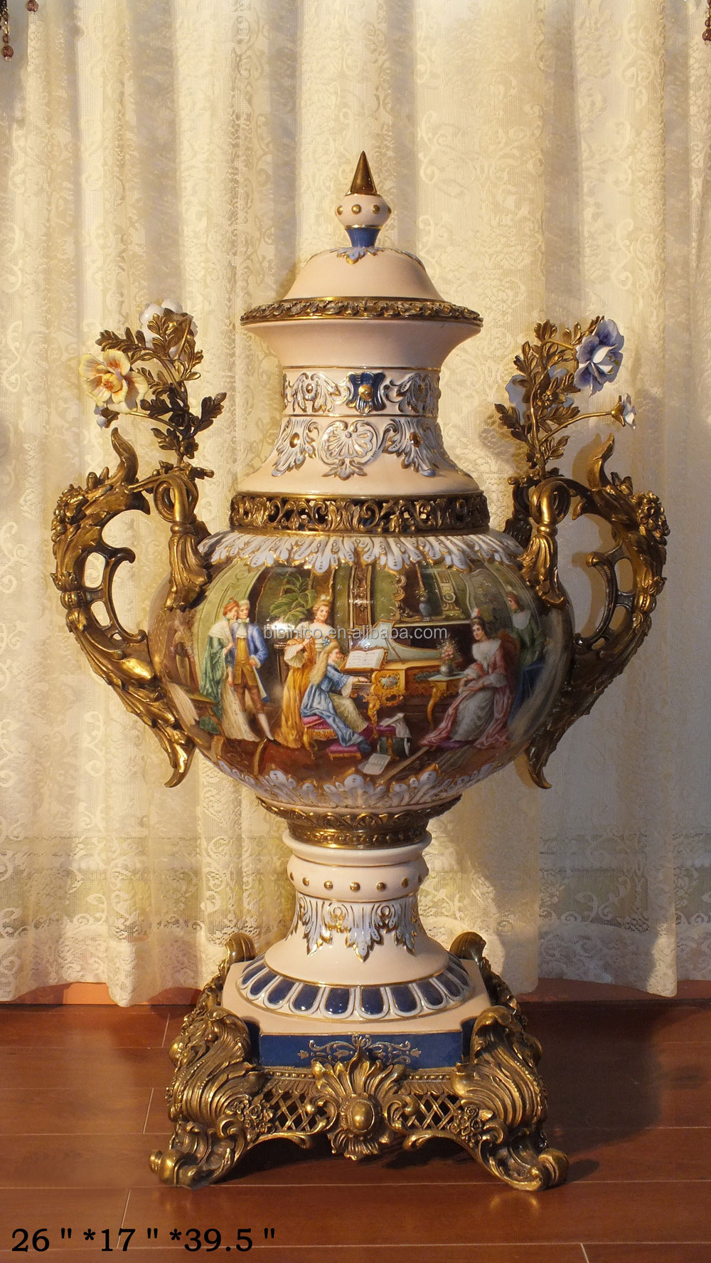 French Baroque Antique Porcelain Home Decoration Luxury