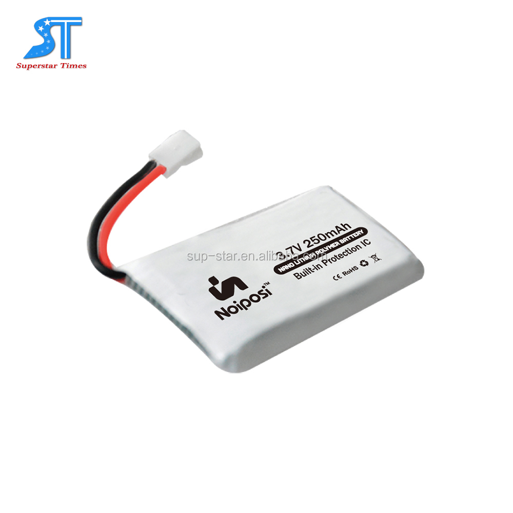 Long cycle life Flat High capacity 3.7v 250mah rechargeable lithium polymer battery