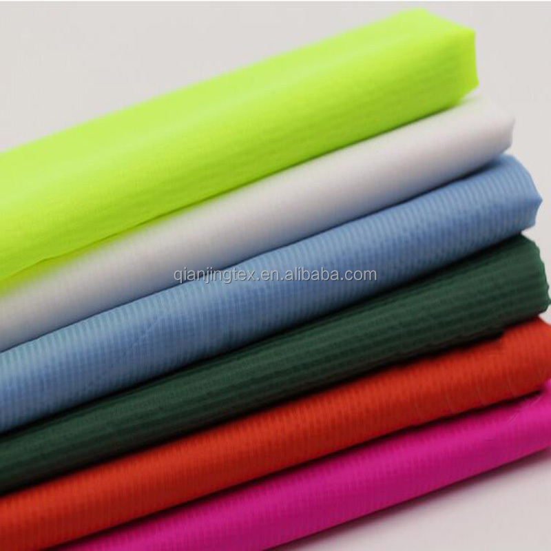 Factory customized 15D ultra thin light soft ripstop <strong>nylon</strong> fabric wholesale
