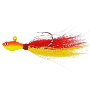 Bass Fishing Jig Head Fishing Lure Glow Bucktail 1oz Fluke Bucktail Jig