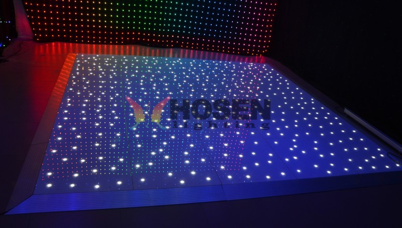 Manufacture supply stage light starlit LED dance floor, twinkling dance floor