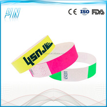 YN - 4100 Waterproof hot selling tyvek wrist bands , rfid paper wristband with the continue number
