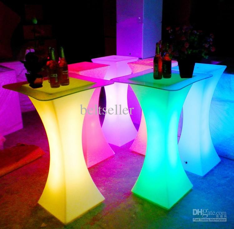 Bar Tables Xc-018 European Led Light Bar Table Rechargeable Led Illuminated Table Waterproof Lighted Up Coffee Table Bar Ktv Party Supply Moderate Cost Bar Furniture