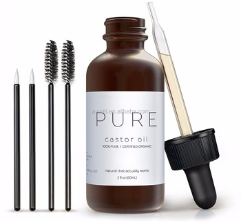 eee6d6e024b Hot Sell Organic Castor Oil For Eyelashes And Eyebrow Growth With Treatment Applicator  Kit