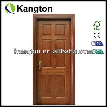 Knotty Pine Solid Wood Interior Door With Solid Wood Door Frame ...