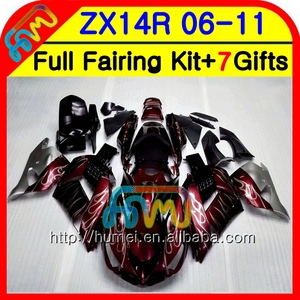 Body For KAWASAKI NINJA ZX14R 06 07 08 09 10 11 24NO.1 ZX-14R ZZR1400 ZX 14R 2006 2007 2008 2009 2010 2011 Fairing Wine red