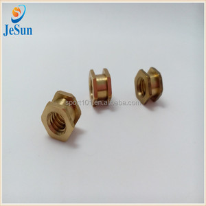 Brass Hole Hex Nut Brass Double Head Nut Fastening Nut From China Suppliers