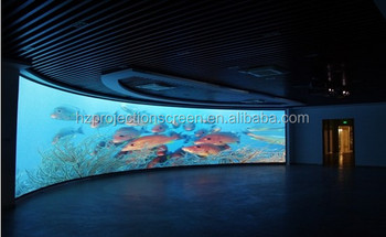 Curved Projection Screen 180 Degree Circular 3d Silver
