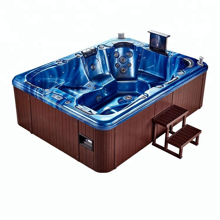 Fiberglass Swimming Pool Hot Tub Combo With Tv Set Factory Price - Buy Pool  Hot Tub Combo,Hot Tub Price,Hot Tubs With Tv Product on Alibaba.com