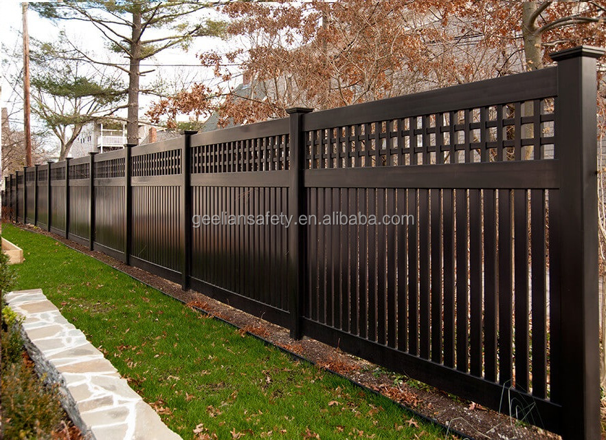 PVC/WPC Privacy wood plastic composite terrace fence design