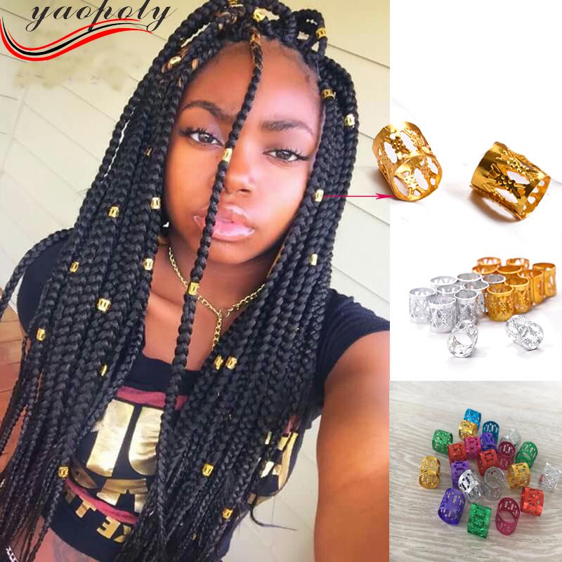 Dread Lock Dreadlocks Braiding Bead//Braid Beads 7-15mm Hole//Black /& White Glass//Copper Enamel Beads