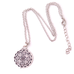 N0551 Yiwu Huilin Fashion link chain Yoga Sri Yantra Wicca Wealth Pendant clip on charm