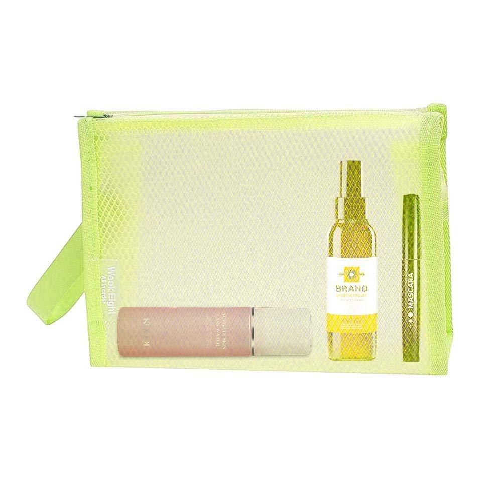 efd474590f1d Buy Travel Nylon Mesh Zipper Toiletry Cosmetic Makeup Bag Brush ...