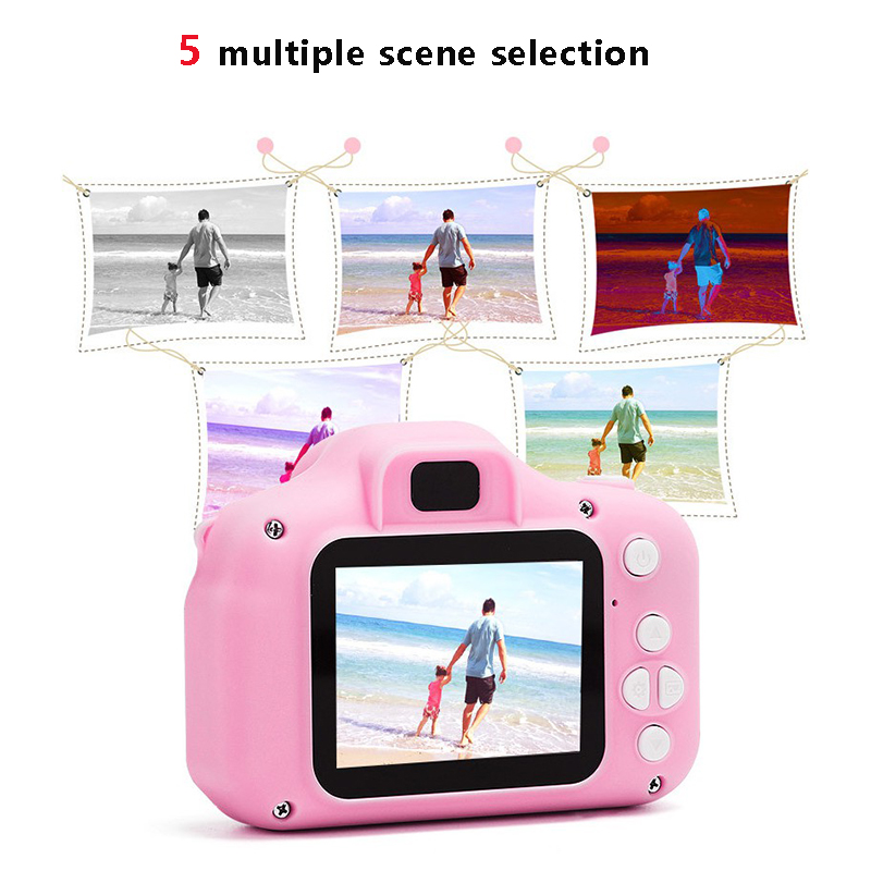 2019 Promotion Gift 2 inch IPS LCD Screen HD Mini Camera Toy Kids Digital Camera For Kids Children