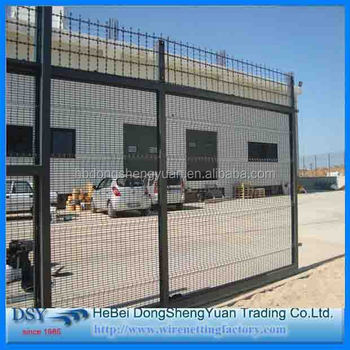 Trade Assurance European Style Garden Zone Fence Galvanized Powder Coated  Metal Palisade Fencing