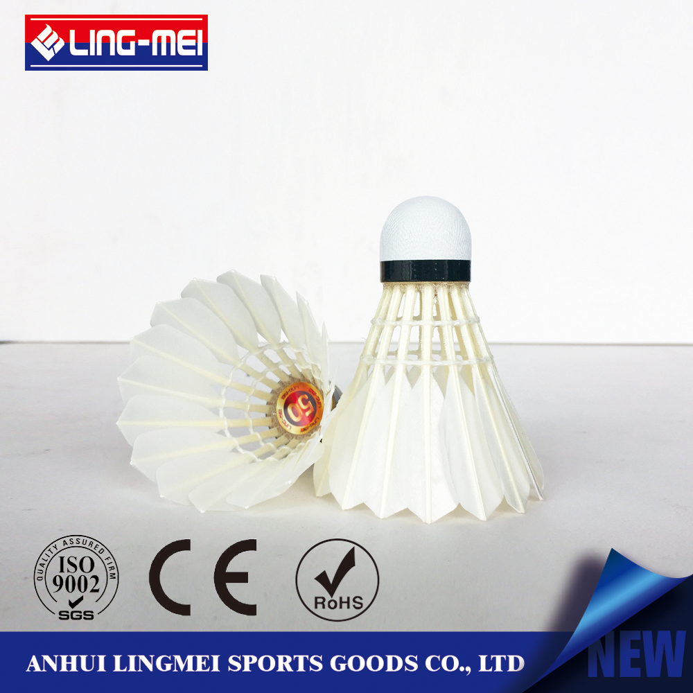 Anhui badminton factory lingmei with reasonable price shuttlecock
