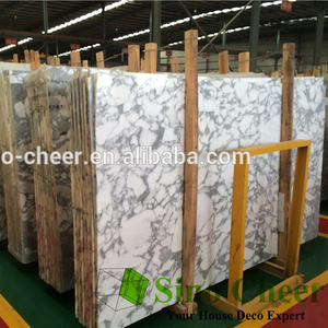 Natural Stone Calcutta white Marble For countertop floor wall Clading