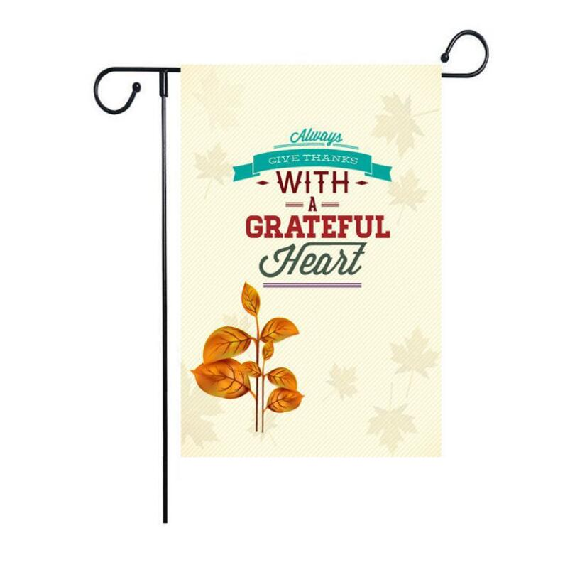 High Quality New Arrival Fashion 30*45cm Garden Flag Outdoor Letters Printed Flag